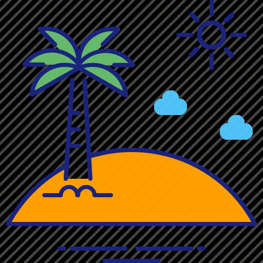 beach, holiday, holidays, island, summer, travel, vacation icon