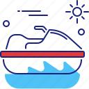 boat, jet, motorboat, ski, skiing, speed, speedboat icon