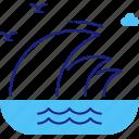 large, nautical, ocean, sea, tsunami, waves icon