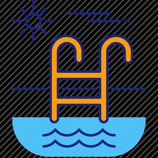 holiday, pool, summer, swim, swimming, trip, vacation icon