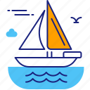 boat, ocean, sail, sailing, sea, vessel, yacht icon