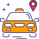 dropoff, lift, pickup, ride, taxi, transport, travel icon