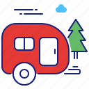 camper, campervan, park, rv, trailer, van icon