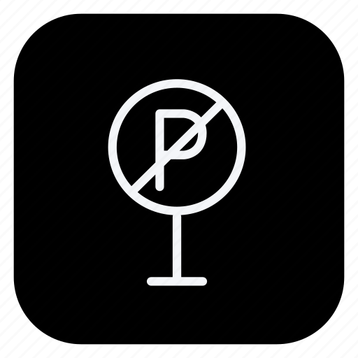 holiday, no parking, parking, tourism, travel, trip, vacation icon