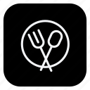 cutlery, holiday, spoon, tourism, travel, trip, vacation icon