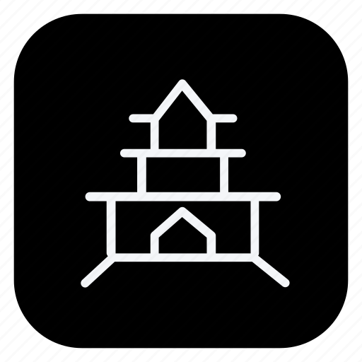 holiday, outdoor, pagoda, tourism, travel, trip, vacation icon