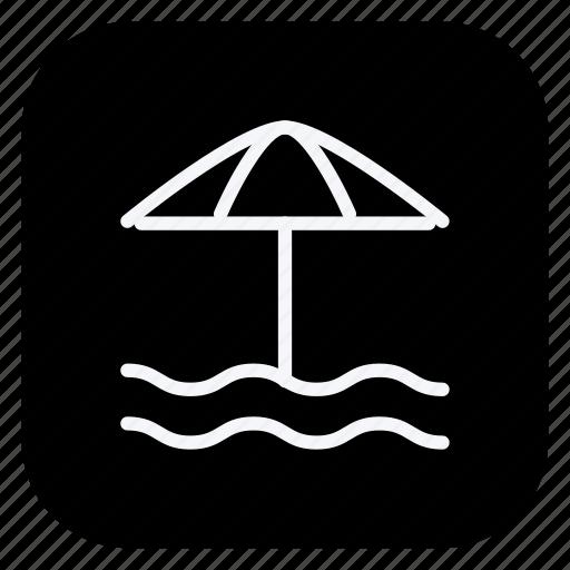 beach, holiday, sunumbrella, tourism, travel, umbrella, vacation icon