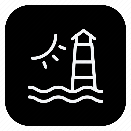 holiday, lighthouse, sun, tourism, travel, trip, vacation icon