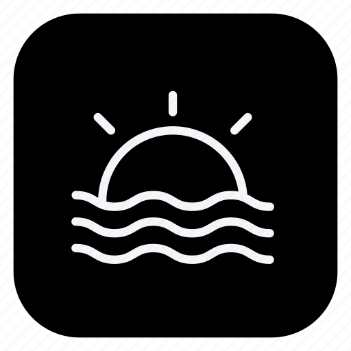 holiday, sun, sunraise, tourism, travel, trip, vacation icon