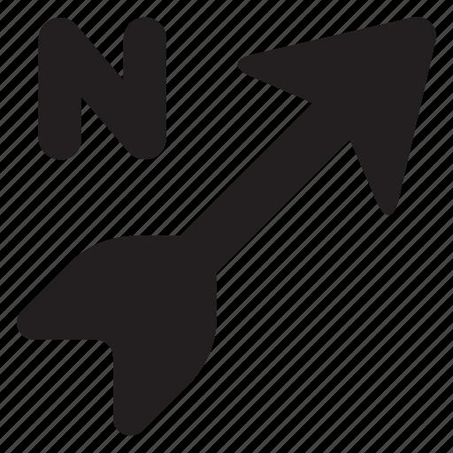 arrow, arrows, direction, north, up icon