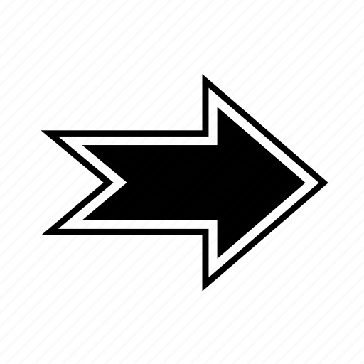 arrow, direction, navigation, right, shape icon