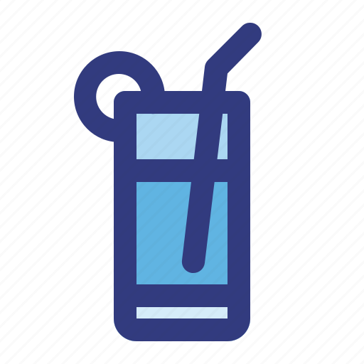 alcohol, beverages, drink, glass, lemon, sparkling, water icon