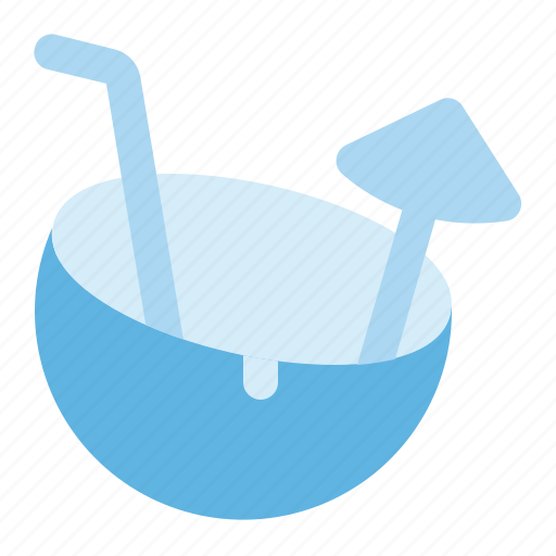 beach, cocktail, coconut, drink, party, summer, water icon