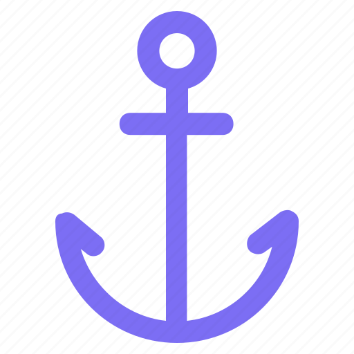 anchor, beach, holiday, sea, ship, summer, traveling icon