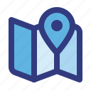 direction, location, map, maps, navigation, pointer, route icon