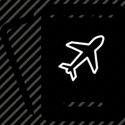 airport, document, holiday, journey, passport, travel, visa icon