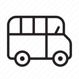 bus, coach, public, school bus, transport, transportation, travel icon