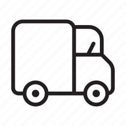 courier, delivery, shipping, transport, truck, van, vehicle icon