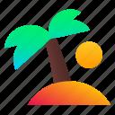 beach, palm, tree, vacation