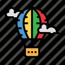 air, balloon, holiday, outdoor, recreation, travel icon