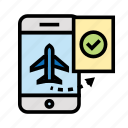 booking, holiday, outdoor, recreation, travel icon