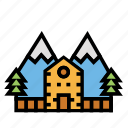holiday, mountain, outdoor, park, recreation, travel icon