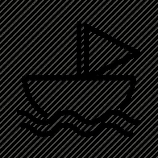 boat, sea, ship, transport, transportation, travel icon