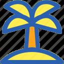 beach, coconut, island, travel, tree icon