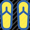 beach, foot, sandals, summer, travel icon