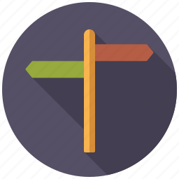 arrow, direction, guide, holidays, signpost, travel, vacation icon