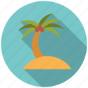 beach, holidays, island, palm tree, summer, travel, vacation icon