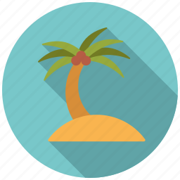 beach, holidays, island, palm tree, summer, travel, vacation icon