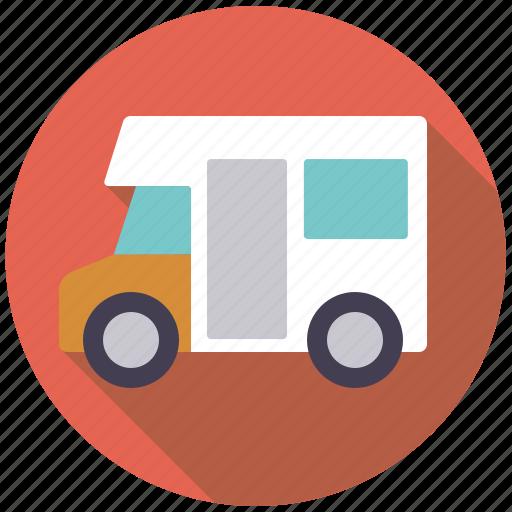 Camper, holidays, mobile home, motorhome, travel, vacation, van icon - Download on Iconfinder