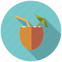beverage, cocktail, coconut, drink, holidays, travel, vacation icon