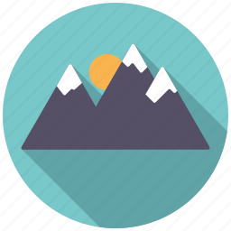 alpine, holidays, mountain range, mountains, travel, vacation, winter icon