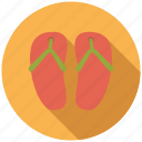 beach, clothing, flipflops, holidays, shoes, travel, vacation icon