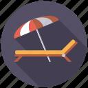 travel, beach umbrella, holidays, sunbed, vacation, deckchair, sunshade