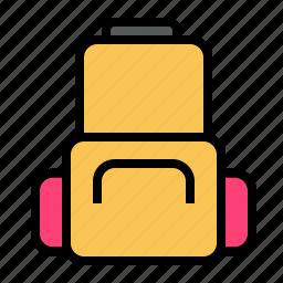 backpack, case, holiday, luggage, traveling icon