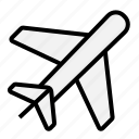airplane, holiday, transportation, traveling icon