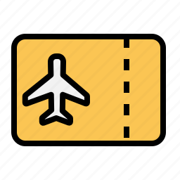 airplane, holiday, ticket, traveling icon