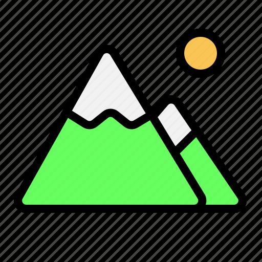 destination, holiday, mountain, traveling icon