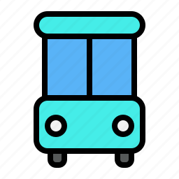 bus, holiday, transportation, traveling icon