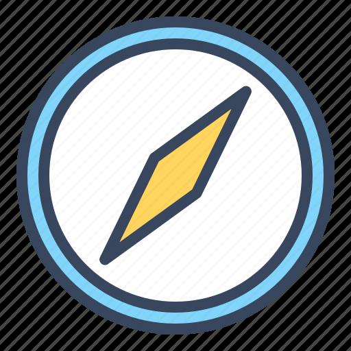 compass, direction, location, navigate, navigation, travel icon