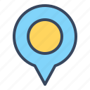 gps, location, maps, navigation, pin, travel icon