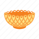 bowl, dinner, gold, treasure icon