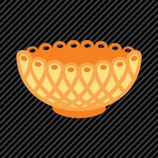 bowl, dinner, gold, treasure icon