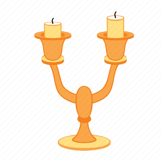 candles, candlestick, double, gold, treasure icon