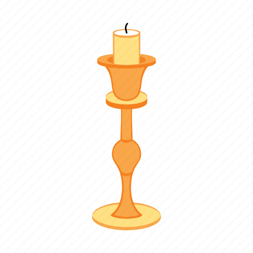 candle, candlestick, gold, single, treasure icon