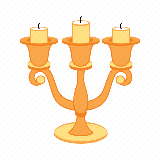 candles, candlestick, gold, treasure, tripple icon