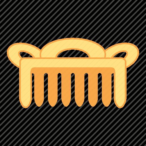 comb, gold, hair, treasure icon